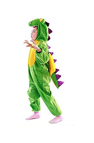Unbekannt DS (GR. 92-122) COOLES DINO KOSTÜM OVERALL DINOSAURIER FASCHING - Trex Dinosaurier Kind Kostüm