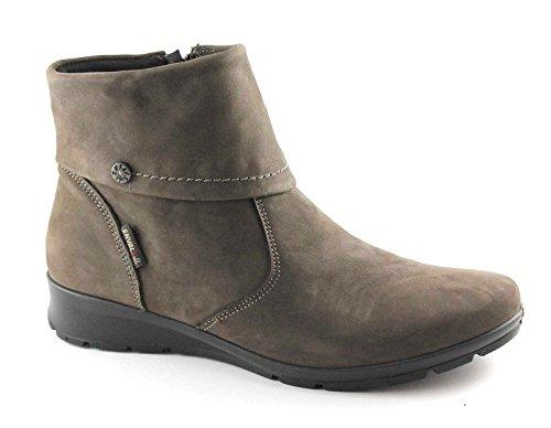 ENVAL SOFT 68703 testa di moro scarpe donna stivaletti tronchetti zip 38