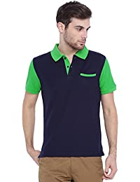 ARISE Solid Men's Navy Polo T-Shirt