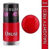 #6: OBUSE Paint Me Premium Nail Polish, Naughty Red, 6 ml