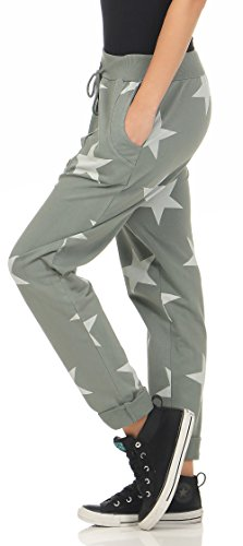 malito Stella Pantaloni Aladin Sbuffo Pantaloni Pump Baggy Yoga 3303 Donna Taglia Unica oliva