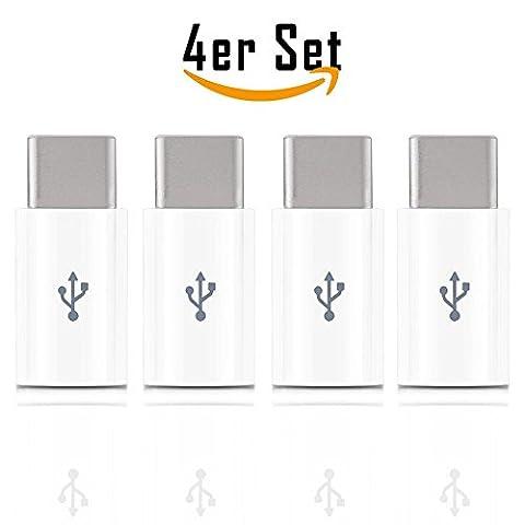 4Micro USB vers USB Type C 3.1(Thunderbolt) Adaptateur Micro USB