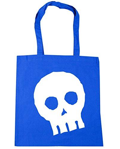 hippowarehouse Halloween Totenkopf Tote Shopping Gym Beach Bag 42cm 3838, 10Liter Gr. Einheitsgröße, Kornblume (Costume Halloween Beach Boys)