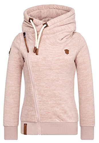 Naketano Female Zipped Jacket Dreisisch Euro Swansisch Minut  M Dusty Pink Melange