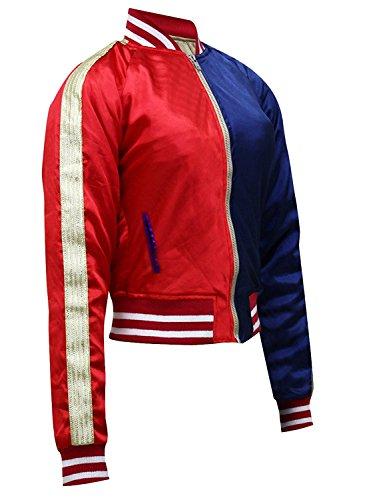 Chaqueta para disfraz Stylowears, Margot Robbie, Harley Quinn en Escuadrón Suicida Red & Blue Small