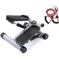 SportPlus SP-MSP-001 - Stepper / Side-Stepper - Ordinateur de Contrôle + Corde / Bande de Traction pour une Posture Parfaite et plus de Possibilités d'Exercices