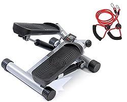 SportPlus Side-Stepper mit Zugbändern und Trainingscomputer • Benutzergewicht bis 100kg • hochwertige Hydraulikzylinder • Sicherheit geprüft • SP-MSP-001