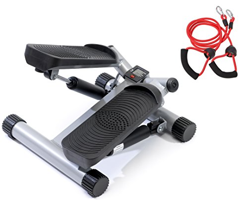 Sportplus SP-MSP-001 - Stepper/Side-Stepper - Ordinateur de Contrôle + Corde/Bande de Traction pour une Posture Parfaite et plus...