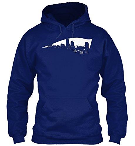 Bequemer Hoodie Damen / Herren / Unisex von Teespring | Originelles Outfit für jeden Anlass und lustige Geschenksidee - New England Patriots - Boston Skyline Logo (Boston Patriots Sweatshirt)