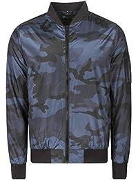 0122245c Dissident Mens McLeod Camo Print Lightweight MA1 Bomber Jacket