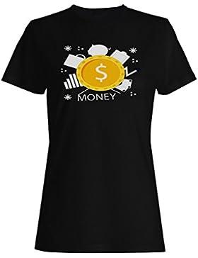 Dinero, dólares, gracioso, avaricia, novedad camiseta de las mujeres b303f