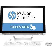 'HP Pavilion All-in-One 24-b101nl Desktop PC, pantalla de 23.8, procesador Intel Core i3–6100T, 3.2GHz, 4GB de RAM, HDD de 1000GB, tarjeta gráfica Intel HD 530, blanco