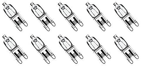 10 Pack Crystal Clear Lense Q75/G9/CL/240V G9 JCD 75 Watt