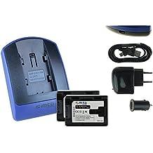 2 Baterìas + Cargador (USB/Coche/Corriente) para Olympus Li-70b // D-700 D-745 .. / FE-4020.. / X-940 X-990 / VG-110 VG-130 VG-160... ver lista