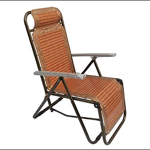 WXF Liegestühle Klappbare Bambusmatte, Liegestuhl Garten Im Freien Siesta Chaise Longue Cane Stuhl Klappstuhl Cool -