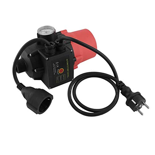 Automatic Pump Pressure Control Switch Electronic Water Pump Switch EU Plug red & black -