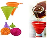 Collapsible Foldable Silicone Funnel - F...