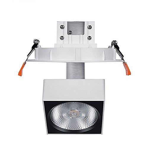 Spot LED éclairage Tableau plafond Orientable encastrable NOAH CREE 25W IRC90 blanc chaud 3000K 20° LEDart