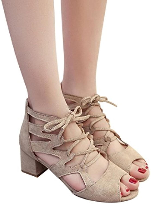 4c58fee625d311 les sandales hehem loisirs été la cheville carrée des talons talons talons  de mode mode fête de quartier des chaussures ouvertes aux femmes, ...