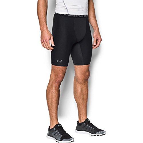 Under Armour Herren robuste und leichte Kompressionshose, Sportshorts mit Netzstoffeinsätzen HG Armour 2.0 Long Short, Schwarz, XL - Gear Boxer Shorts