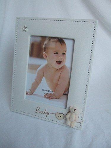 """Preisvergleich Produktbild """"Baby"""" 3D-Bilderrahmen mit Teddy, 18 x 13 cm, Beige natur"""