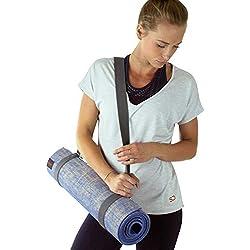 Sundried Tapis de Yoga épais antidérapant en Toile de Jute avec Sangle Taille L