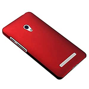 WOW Imagine Rubberised Matte Hard Case Back Cover For Asus Zenfone 5 (Maroon Wine Red)