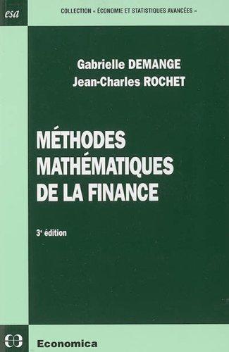Méthodes mathématiques de la finance