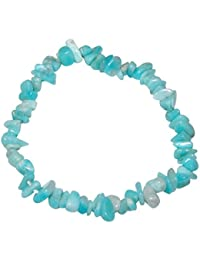 Andenopal blau Spltter Kette 90 cm endlos = ohne Verschluss sch/öne Aqua Farbe. 4038