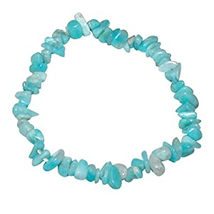 Andenopal blau Spltter Armband schöne Aqua Farbe.(4036)