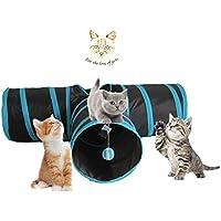 Angel's Pride Katzenspielzeug Katzentunnel, Katze Spielzeug Hundespielzeug Spieltunnel Faltbarer 3-Wege-Spiel Tunnel für Kaninchen Hasen Katzen Hunde und Kleintiere