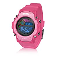 ATOPDREAM Learning Toys for 4-12 Year Old Girls, TOP TOY Kids Wrist Watches Time Teacher Waterproof Multifunction Watch Outdoor Christmas Xmas Gifts for 4-12 Year Old Girls Stocking Stuffer TTKWD010