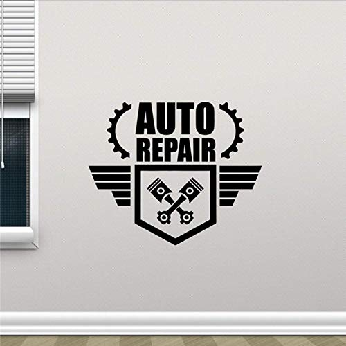 Preisvergleich Produktbild Wymw Modernes Design Auto Auto Reparatur Wandtattoo Reparatur Shop Dienstleistungen Garage Vinyl Aufkleber Wanddekor Auto Wandkunst Wandaufkleber 58 * 48 Cm