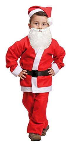 Weihnachtsmann Nikolaus Kostüm für Kinder - Komplettset - 4-6 Jahre (Weihnachtsmann-kostüm Für Kinder)