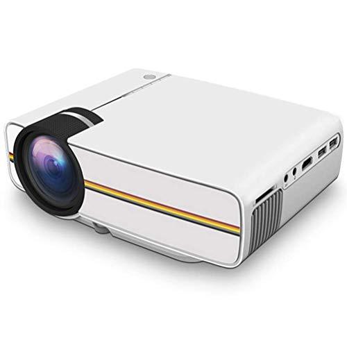 DBGS 1080P Video-Projektoren, 5000 Lumen HD Videoprojektor 200 \'\' Home Cinema LCD Film-Projektor Unterstützung HDMI VGA Av USB für Home Entertainment-Party,Weiß
