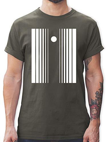 Doppler Kostüm Effekt - Karneval & Fasching - Doppler-Effekt - L - Dunkelgrau - L190 - Herren T-Shirt und Männer Tshirt