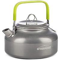 Overmont 0,8 L Hervidor de Agua portátil Tetera Cafetera Outdoor Kettle de Aluminio para Camping Exterior Picnic Senderismo