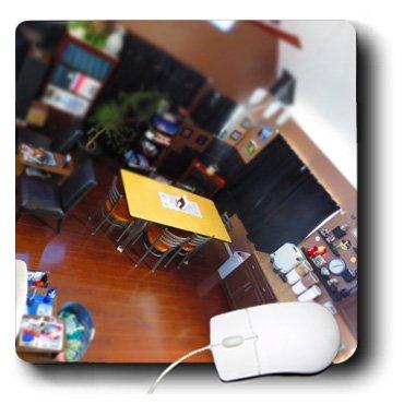 3drose LLC 20,3x 20,3x 0,6cm Maus Pad, ein aussehende Esszimmer mit umlaufender Tisch Möbel (MP 183618_ 1) -