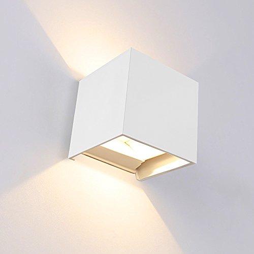7W LED Wandlampen Wandleuchte Treppenhaus, IP65 Wandbeleuchtung Wandlicht Innen Up Down 3000K Warmweiß 800Lm, für Wohnzimmer Schlafzimmer Balkon Resultierende
