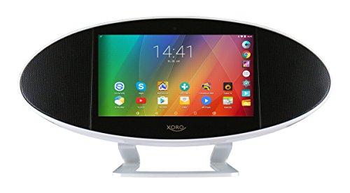 Xoro HMT 390Q Internet-TV/Radio 8GB interner Speicher(17,8 cm (7 Zoll) Rockchip Cortex A7, 1,3GHz Quadcore, 1GB RAM, WiFi, HDMI, MicroSD, USB 2.0, Android 5.1) schwarz/weiß