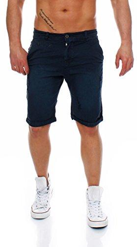 Z-ONE Herren destroyed Bermuda Shorts Mens Pants kurze Hose Chino Shorts  Navy adcf35d3c2