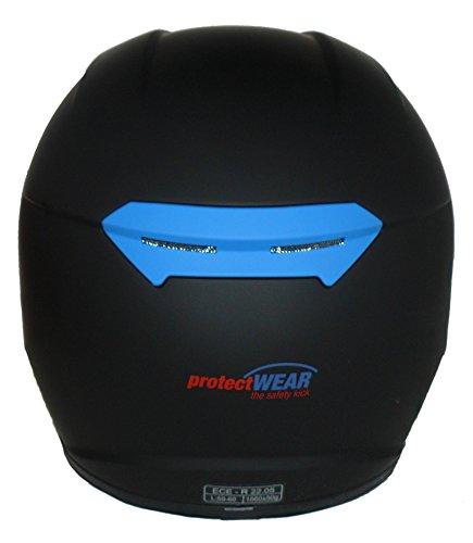 Protectwear Motorradhelm V121-BL schwarz-blau matt - M - 2