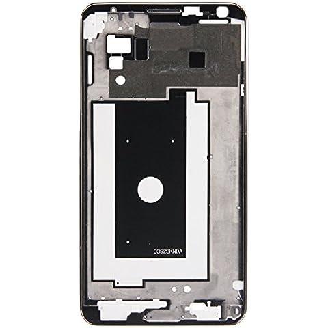Piezas de repuesto de teléfonos móviles, iPartsBuy frontal de la carcasa del LCD de la placa del bisel del capítulo para la nota 3 / N900A