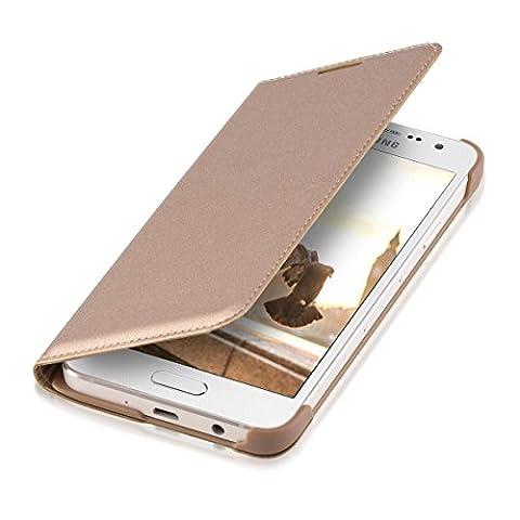 kwmobile Flip cover pour Samsung Galaxy A3 (2015) en doré