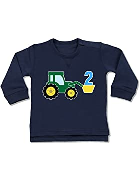 Shirtracer Geburtstag Baby - 2. Geburtstag Traktor - Baby Pullover