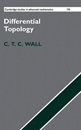 Differential Topology (Cambridge Studies in Advanced Mathematics) por C. T. C. Wall