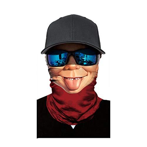 cinnamou Multiunktionstuch Maske Schal Kälteschutz Gesichtsmaske Fishing Totenkopf Schal Skull Bandana Gesichtsmaske Halstuch Ski Motorrad Paintball Halloween Maske (25CM X 50CM, K) (Halloween-masken Beste Lustige)