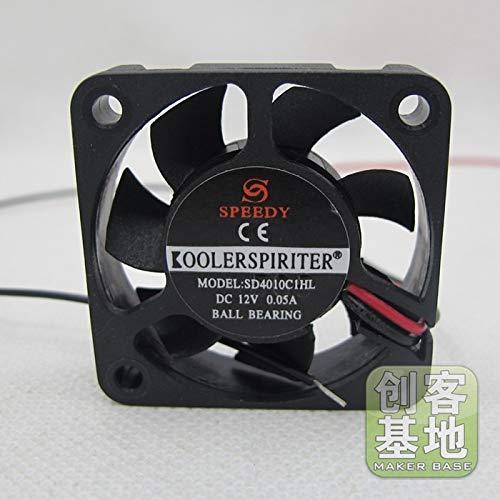 Laliva 3D Drucker - Reprap Dual Ball Kühler Ventilator/Mini Fan Gebläse Standard Radial Fan Ultra leise 40404010 12 V US79 für 3D-Extruder -