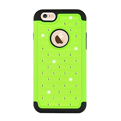 Starry Pattern Dual Layer Silikon + Kunststoff Kombinationsetui für iPhone 6 & 6S by diebelleu ( Color : Dark Blue ) Green