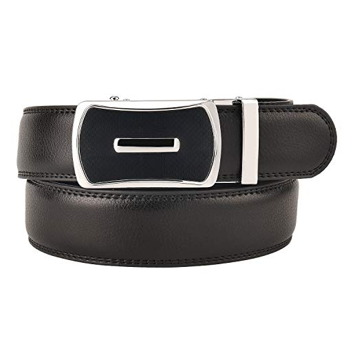 KEYNAT Ledergürtel Gürtel Herren Echtleder Business Anzüge Casual Reversible Schnalle Mit Automatischer Ratsche Ratchet Dress Belt (Style-31) (Ratschen Reversible)